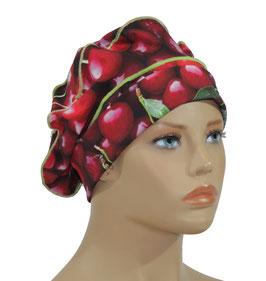 Ballonmütze Baskenmütze Damenmütze Jerseymütze Kirsche