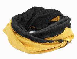 Loop Schal Rundschal gelb schwarz Samira
