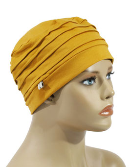 Damenmütze Chemo Mütze Übergangsmütze gelb Anela