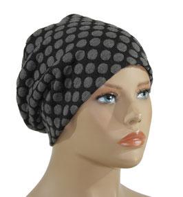 Beanie Mütze schwarz grau Peja