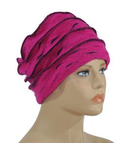 Walkmütze Wollmütze pink schwarz Witha