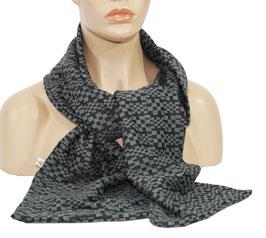 Schal Kurzschal grau schwarz Carla