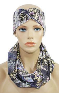 Stirnband mit Rundschal fliedertöne Sita