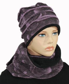 Damen Woll Set Mütze Schal Leila