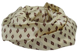 Loop Schal Seide beige braun Krawattenseide