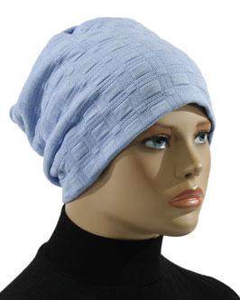 Damen Beanie Mütze Jerseymütze hellblau Julia