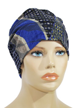 Beanie Mütze blautöne samtig Lya