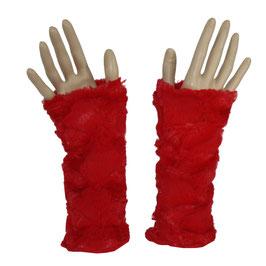 Armstulpen Kunstfell rot doppellagig Jill