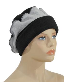 Damen Ballonmütze schwarz grau Philine
