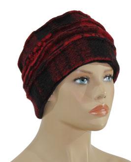 Walk Mütze Damen Mütze Winter Mütze rot schwarz Anne