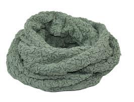 Loop Schal Jersey Jacquard grün