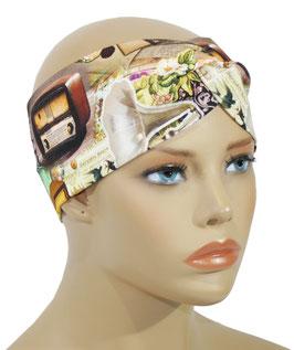 Damen Turban Stirnband Vintage Radio