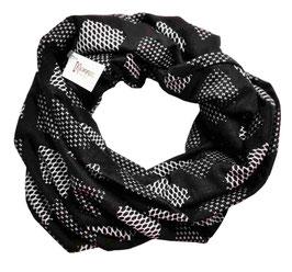 Lagenlook Loop Schal schwarz grau Becca