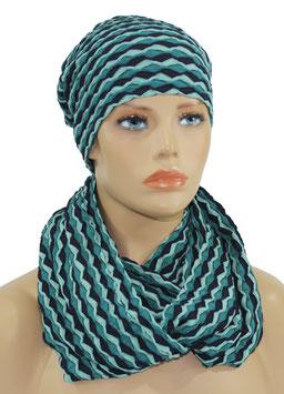 Mütze Schal Set blautöne Alexi