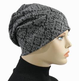 Beanie Mütze Chemo Cap grau Luzi