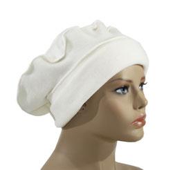 Damen Basken Mütze Fleece wollweiß Fenja