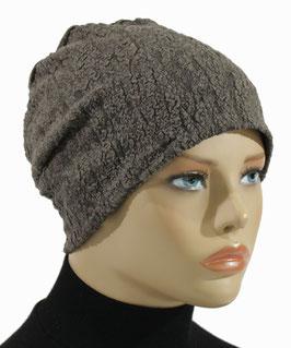 Damenmütze Beanie Mütze Jerseymütze taupe Rita
