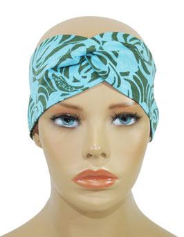 Turban Stirnband Haarband türkis oliv Tisa