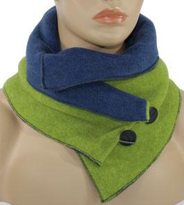 Damen Fleece Schal blau grün Wendeschal Valerie