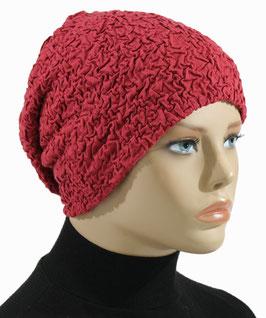 Beanie Mütze Chemo Mütze Damenmütze ziegelrot Anna
