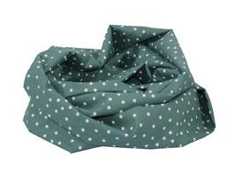 Loop Schal Baumwolle mintgrün weiß Tupfen Caja