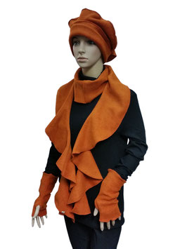 Lagenlook Fleece Set Poppy orange