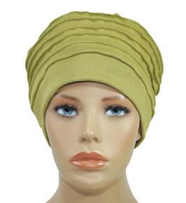 Chemo Mütze Beanie Mütze senfgrün Nalu