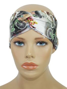 Turban Stirnband für Damen Fahrrad Motiv