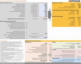 Leistungsrechner für Rentenbezieher - Excel basierter Rechner zur automatischen Berechnung