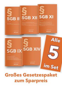 Sozialgesetzbücher im Set zum Sparpreis: SGB II, SGB IX, SGB XI, SGB XII, SGB XIV