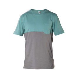 SNAP Two-colored pocket T-Shirt  (Green)