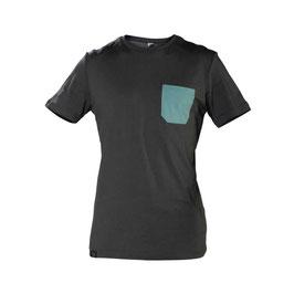SNAP Monochrome pocket T-Shirt (Light Black)