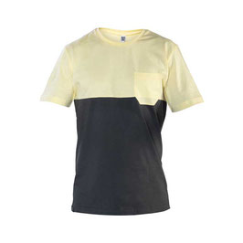 SNAP Two-colored pocket T-Shirt  (Yellow)