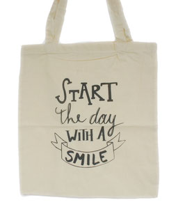 Totebag Bloom 'start the day with a smile'