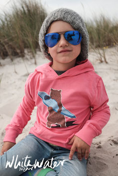 "Kids Hoodie ""Grizzly"" // Camelia Pink"