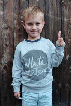 "Kids Sweater ""White Water"" // Grey"