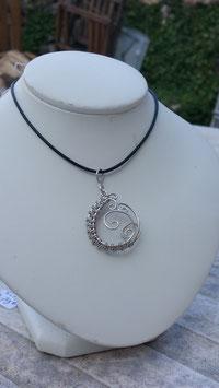 collier de fils tressés Celte, pièce unique