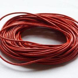 Liens cuir rond 1.5 mm de diamètre - ROUGE