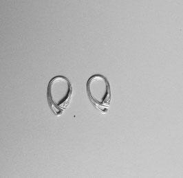 1 paire de dormeuse anglaise pour boucles d'oreilles , argent massif