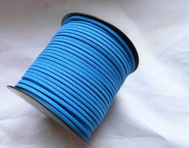 SIMILI CUIR lacet/liens fil façon daim, plat 1.5 x 3 mm, bleu