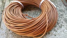 Liens cuir rond 2 mm de diamètre - NATUREL