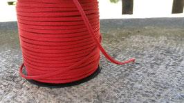 SIMILI CUIR lacet/liens fil façon daim, plat 1.5 x 3 mm, rouge