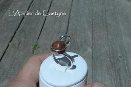 bague SCORPIO , unique, metal bois précieux (cocobolo)