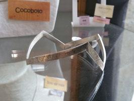 """Bracelet esclave ou jonc plat gravé """"zig zag"""" en argent 950 massif !. 100 % artisanal"""
