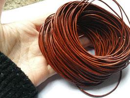 Liens cuir rond 1.5 mm de diamètre - ROUGE VINTAGE