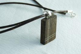 pendentif croix bois / argent unique homme, tendance et original, argent massif, fait main