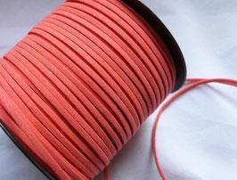 SIMILI CUIR lacet/liens fil façon daim, plat 1.5 x 3 mm, melon