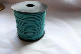 SIMILI CUIR lacet/liens fil façon daim, plat 1.5 x 3 mm, turquoise