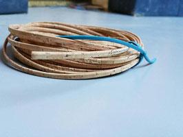N6,LIEGE du portugal, naturel et qualité ++ ! lien plat 4 mm, collier, bracelet