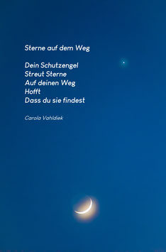 Sterne auf dem Weg, Textkarte